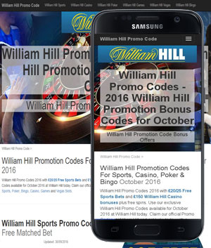 William Hill Promotion Codes